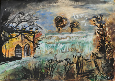 John Piper, 'Landscape with a Waterfall'