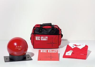 Mike Kelley, 'Bowling Ball, Bag, Shirt and Catalog', 1991