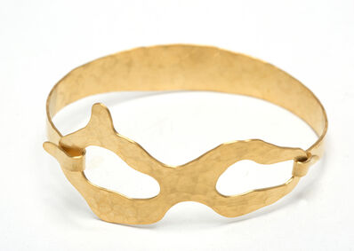 "Jacques Jarrige, 'Bracelet gold plated brass by Jacques Jarrige ""Duo""', 2015"