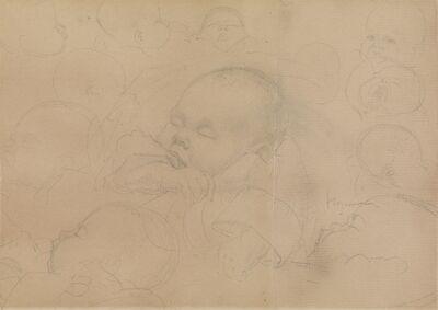 Henry Moore, 'Studies of Sleeping Child: The Artists Nephew Peter', 1922