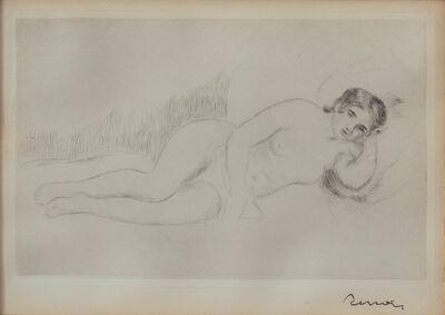 Pierre-Auguste Renoir, 'Femme Nue Couchee (toumee a Droite), first plate', 1906