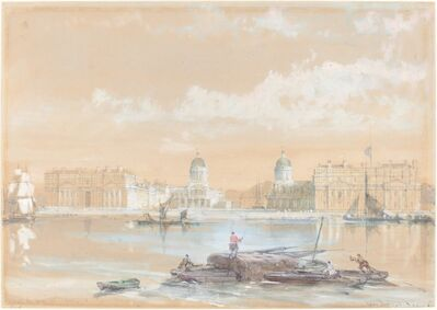 David Roberts, 'The Naval College from the River at Greenwich', 1861