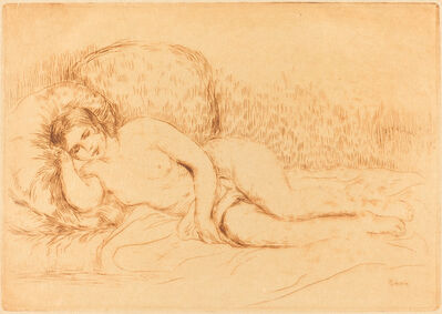 Pierre-Auguste Renoir, 'Woman Reclining (Femme couchee)', 1906