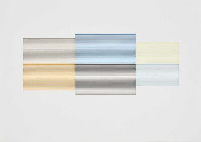 Michael Craig-Martin, 'Untitled (Coloured Venetian Blind Study 6)', 1990