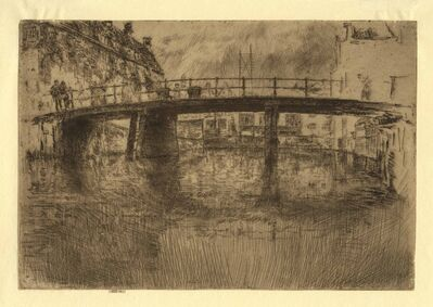 James Abbott McNeill Whistler, 'Bridge Amsterdam', 1889
