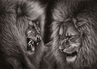 Danguole Serstinskaja, 'Lion Fight ', 2017