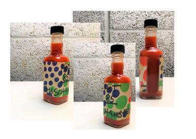 """Robert Rauschenberg, '""""Hot 85"""", 1985, Rauschenberg's Homemade Hot Sauce Bottle, Signed/Dated,  UNIQUE', 1985"""