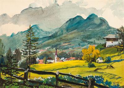 Oskar Laske, 'Mieders in the valley Stubaital', ca. 1925