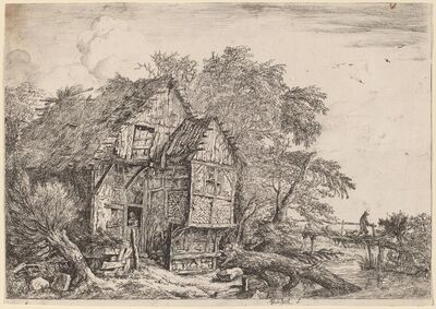 Jacob van Ruisdael, 'The Little Bridge', ca. 1652