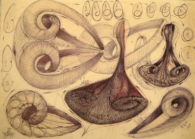 Gabriel Kelemen, 'Standing wave in volatile liquids and the circular-vortex Knot Element (synthetic generative model)', 2008