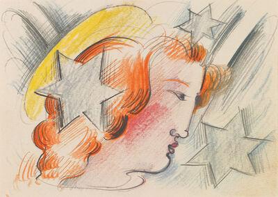 Oskar Schlemmer, 'Ohne Titel (Engelskopf im Profil)', ca. 1930