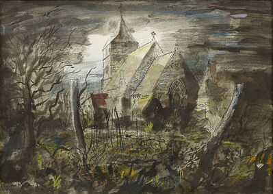 John Piper, 'All Saints Church, Steeple Langford'