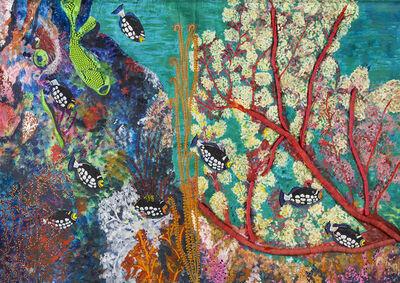 Pacita Abad, 'Dumaguete's underwater garden', 1987