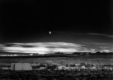 Ansel Adams, 'Moonrise Over Hernandez, New Mexico', 1941-printed circa 1958