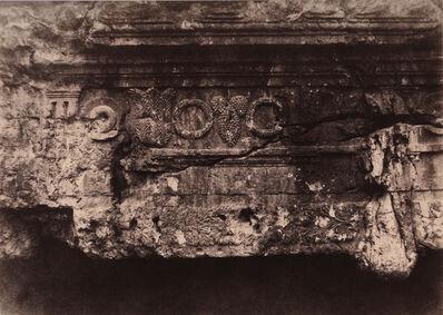 Auguste Salzmann, 'Jérusalem, Tombeau des Rois de Juda, Frise supériure et central'