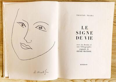 Henri Matisse, 'Tristan Tzara (Le Signe de Vie)', 1946