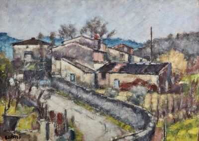 Ardengo Soffici, 'Landscape', executed in 1953