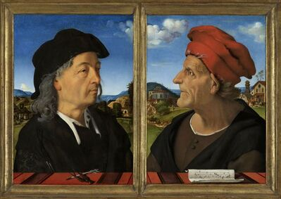 Piero di Cosimo, 'Portraits of Giuliano and Francesco Giamberti da Sangallo', 1482 -1485