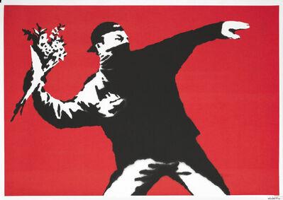 Banksy, 'Love Is In The Air (Flower Thrower) AP', 2003