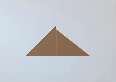 Robert Mangold (b.1937), 'Square within two triangles', 1977