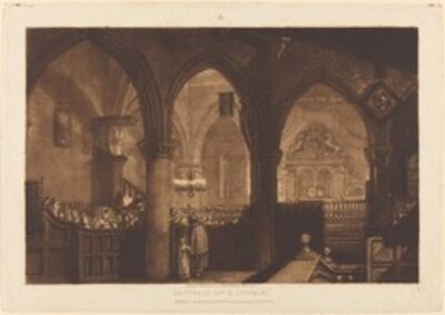 J. M. W. Turner, 'Interior of a Church', published 1819