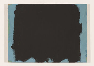 Werner Schmidt, 'Black Covering Blue Slowly ', 2015