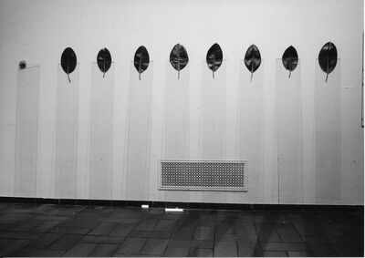 Keiji Uematsu, 'Nine glass plates - Eight leaves - One stone', 1977/ 2014