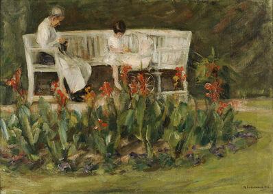 Max Liebermann, 'Enkelin und Kinderfrau im Wannseegarten', 1923