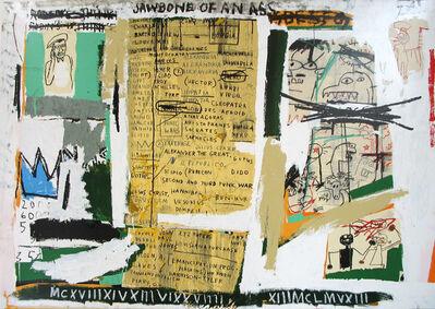 Jean-Michel Basquiat, 'Jawbone of an Ass', 1982-2004