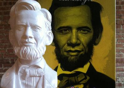 Ron English, 'Abraham Obama bust', 2012