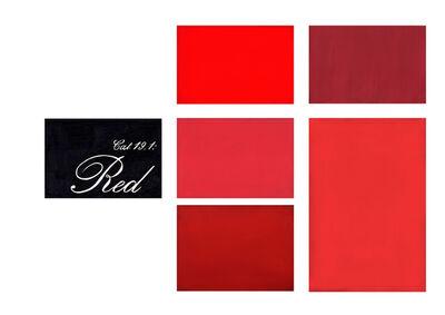 Marcel van Eeden, 'Cat 19.1: Red', 2015