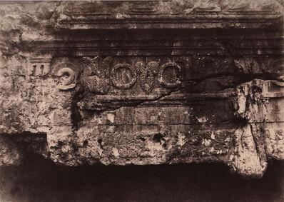 Auguste Salzmann, 'Jérusalem, Tombeau des Rois de Juda, Frise supériure et central ', 1854
