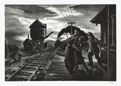 Thomas Hart Benton, 'Morning Train.  [Soldier's Farewell.]', 1943