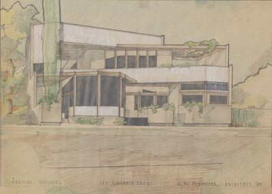 Rudolph Schindler, 'Medical Building, San Vicente Front (119 N. San Vincente Blvd), Beverly Hills, CA', 1945