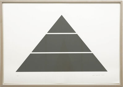 Alan Charlton, 'Divided Horizontal Triangle (3 parts)', 2017