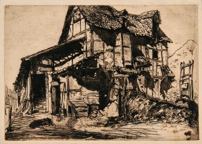 James Abbott McNeill Whistler, 'The Unsafe Tenement', 1858