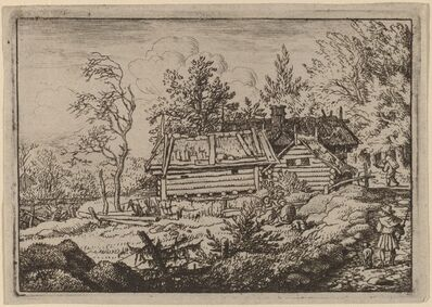 Allart van Everdingen, 'Pilgrim with a Dog', probably c. 1645/1656