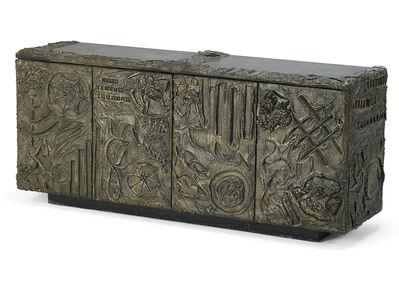 Paul Evans Studio, 'Sculptured Metal cabinet, New Hope, PA', 1970s