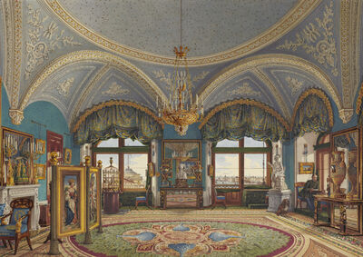 Konstantin Ukhtomsky, 'The Corner Drawing-Room of Emperor Nicholas I in the Winter Palace', Mid-19th century