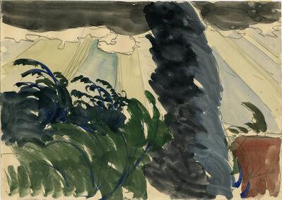 Charles Ephraim Burchfield, 'Sun Rays and Windy Tree', 1916