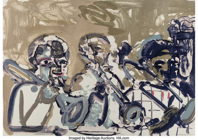 Romare Bearden, 'Brass Section (Jamming at Minton's)', 1979