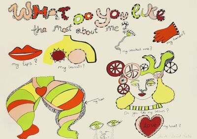 Niki de Saint Phalle, 'What do you like most about me?'