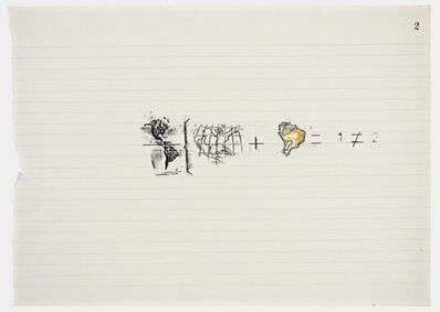 Anna Bella Geiger, 'Equations No 2', 1978