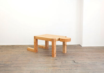RO/LU, 'Truth Lies in Experience No Matter How  Incomplete It Might Be (Man/Desk/Table)', 2014