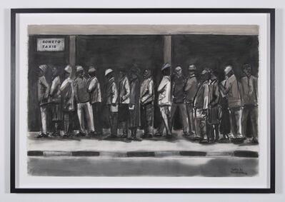 Sam Nhlengethwa, 'Evening queue', 2018