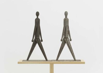 Wang Luyan 王鲁炎, 'Two People Who Walks Along the Right/Left Side While Walking Towards/Away from Each Other', 2011