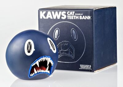 KAWS, 'Cat Teeth Bank (Navy Blue) in original box', 2007