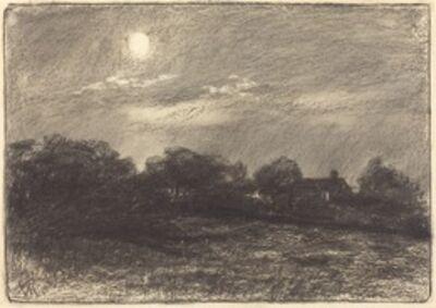 William Morris Hunt, 'Evening, Farm Landscape', 1870s