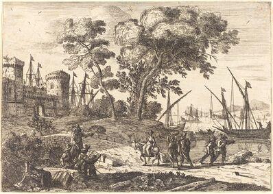Claude Lorrain, 'Coast Scene with an Artist (Le dessinateur)', ca. 1638/1641