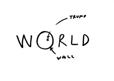 Dan Perjovschi, 'T Drawings (World)', 2016